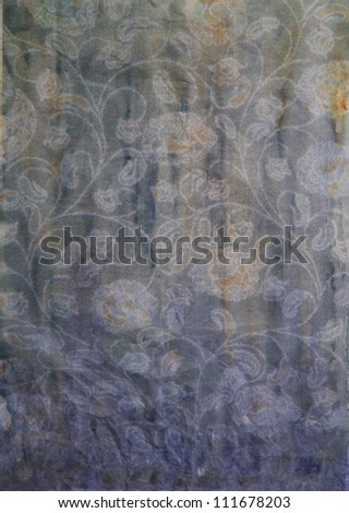 Paper with gray, yellow, and violet paint abstract. Abstract border frame with vintage background texture design, luxurious paper or grunge wallpaper