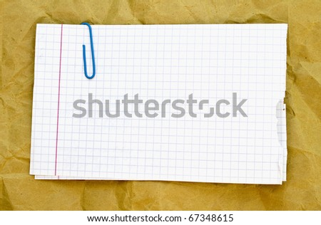 paper with paperclip