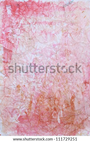 Paper with red, pink, and brown paint abstract. Abstract border frame with vintage background texture design, luxurious paper or grunge wallpaper