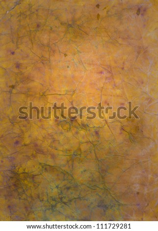 Paper with yellow and brown paint abstract. Abstract border frame with vintage background texture design, luxurious paper or grunge wallpaper