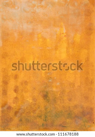 Paper with yellow, white, and brown paint abstract. Abstract border frame with vintage background texture design, luxurious paper or grunge wallpaper
