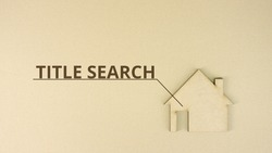 Paperboard house icon with TITLE SEARCH text