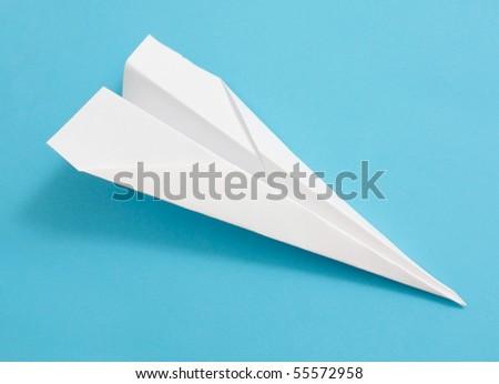 Paperplane - stock photo