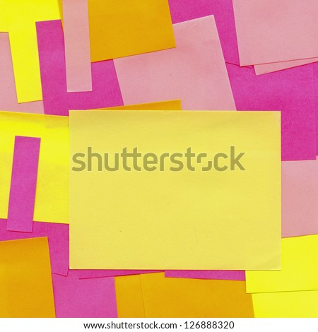 papers for notes as background