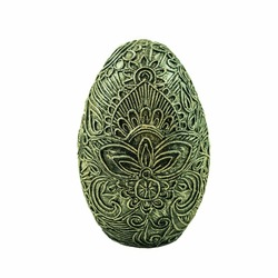 papier-mache decoration egg with a pattern
