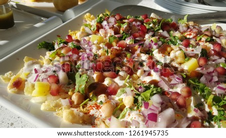 papri chaat Indian snack starters