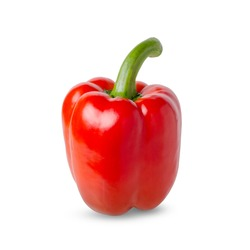 Paprika. Red bell pepper. Isolated on a white background.