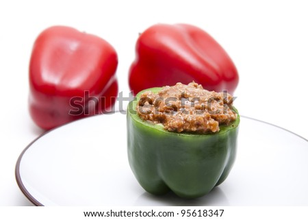 Paprika with ground meat filling