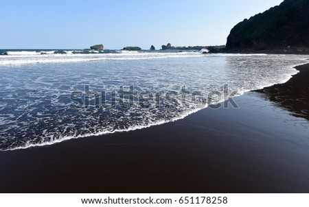 Papuma beach in Jember, East Java, Indonesia #651178258