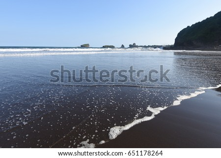 Papuma beach in Jember, East Java, Indonesia #651178264