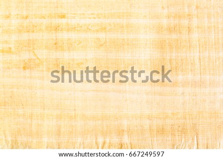 Papyrus paper, abstract texture background. Papyrus was used in an ancient Egypt either painted the hieroglyphs or inscribed them with a reed pen on rolls of papyrus, the antecedent of our paper. #667249597