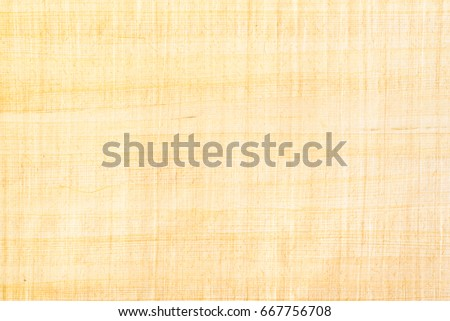Papyrus paper, abstract texture background. Papyrus was used in an ancient Egypt either painted the hieroglyphs or inscribed them with a reed pen on rolls of papyrus, the antecedent of our paper. #667756708