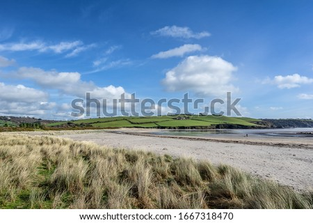 Par Sands in the west Country of Cornwall Foto stock ©