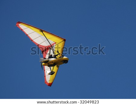 para glide/sail flying object on beautiful blue sky