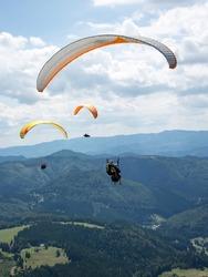 Para glider on the sky