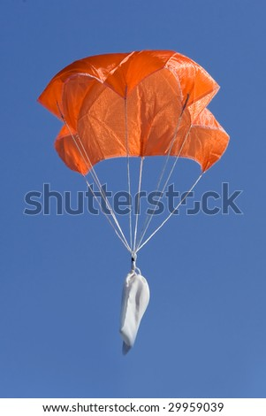 Parachute landing with a message