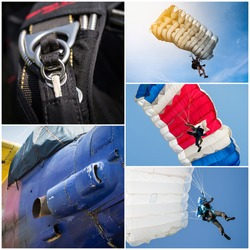 Parachutist collage