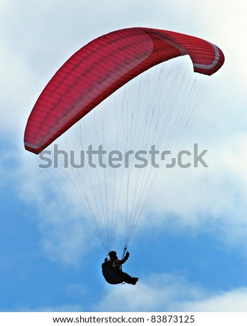 Parachutist on the air