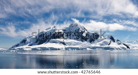 Paradise Bay, Antarctica - Panoramic View of the Majestic Icy Wonderland near the South Pole