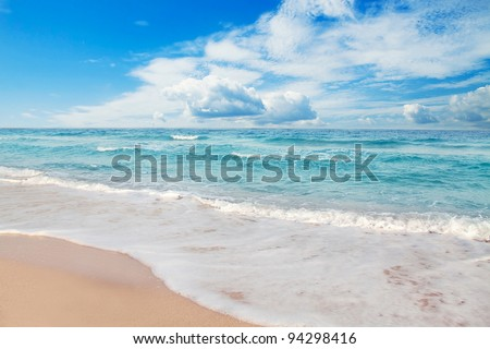 Paradise beach, Arabian Gulf - stock photo