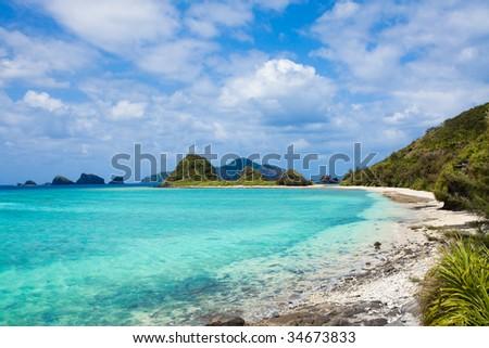 Paradise beach on a Japanese deserted island