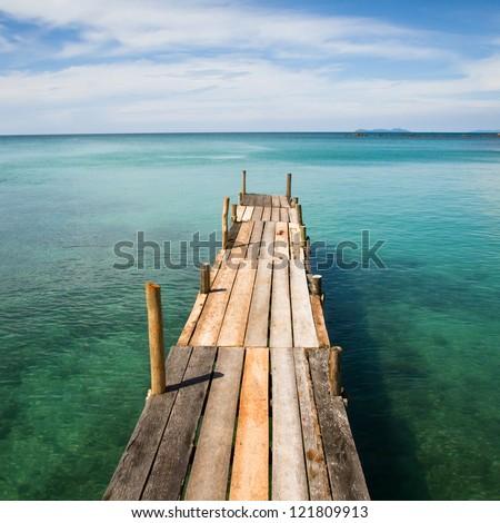 paradise beach, pier