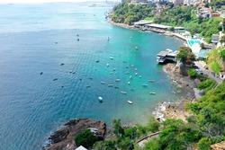 Paradise Beach, Salvador, Bahia, Brazil. Aerial Landscape Salvador, Bahia. Aerial landscape of Cityscape. Aerial view of paradise beach, Salvador, Brazil. Beach. Salvador, Bahia, Brazil. Nature Scenic