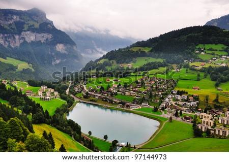 Paradise in Switzerland - stock photo