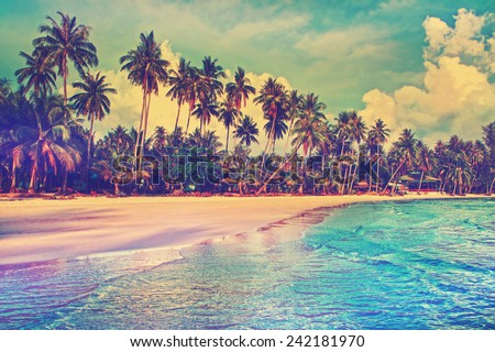 Shutterstock Paradise nature, sea and hotel house on the tropical beach.