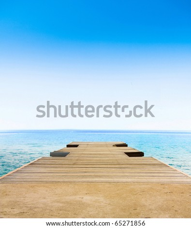 Paradise Sea Landscape - stock photo