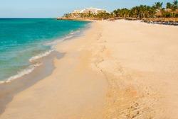 Paradise tropical beach on Varadero. Caribs. Cuba