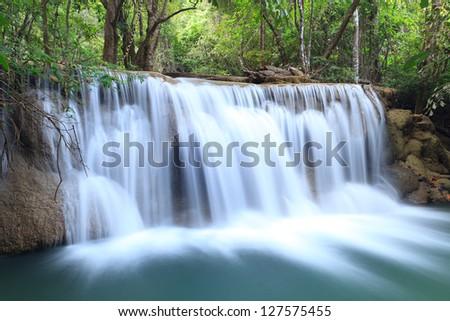 Paradise Waterfall in Kanchanaburi, Thailand