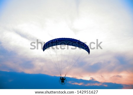Paraglider - Feeling free on the blue sky