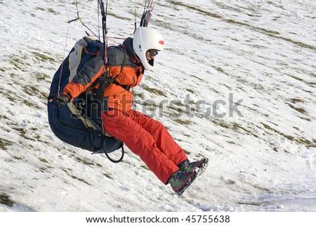 paraglider in action