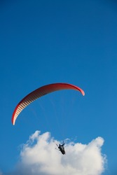 Paragliding into the sunset in Brazil