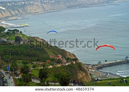 Paragliding near Miraflores Pier, Lima - Peru