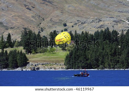 Paragliding, Queenstown, New Zealand