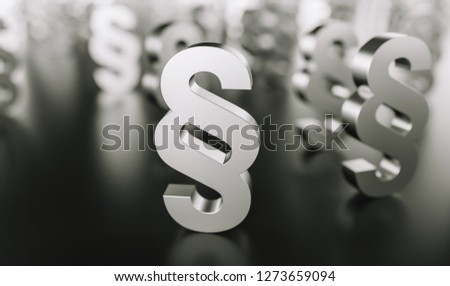 Paragraph signs Symbol of Law and Justice
