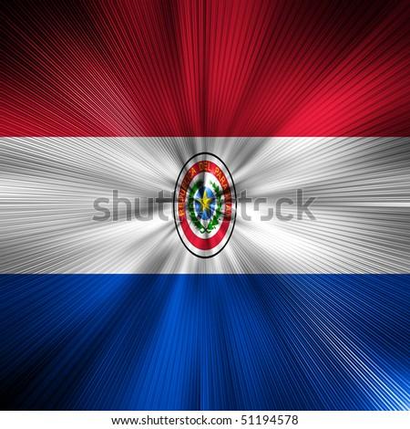 Paraguay flag Energy Warp