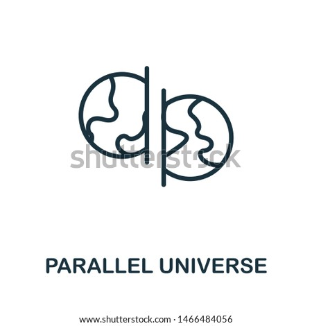 Parallel Universe icon illustration. Creative sign from science icons collection. Filled flat Parallel Universe icon for computer and mobile. Symbol, logo graphics.