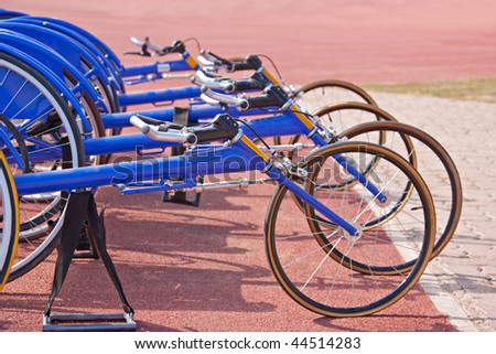 paralympic games, racing bikes  wheelchairs