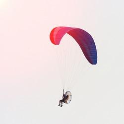 Paramotor in the sky