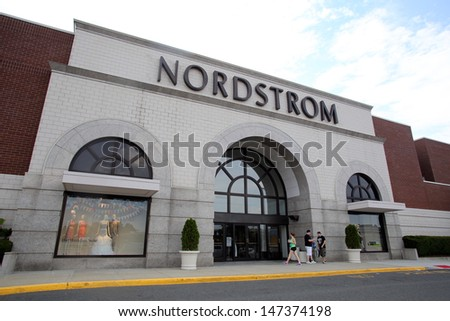 Paramus July 9 Shoppers Walk Past A Nordstrom Department Store In Paramus New Jersey On