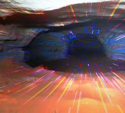 Paranormal phenomena, Cave and emission of light quanta