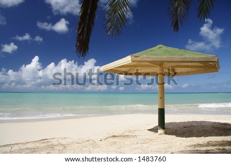 Parasol at a caribbean beach