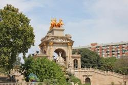 Parc de la Ciutadella, Barcellona, Spain The fountain in the park
