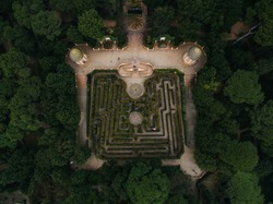 Parc del Laberint d'Horta in Barcelona, Spain. The gardens hosted receptions to the Spanish sovereigns on three occasions since its construction in 1791