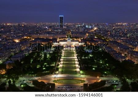 Parc du Champs de Mars Paris Stock photo ©