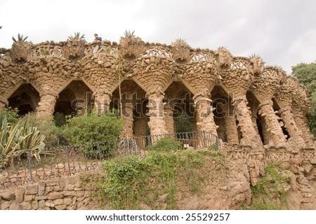 Parc Guell in Barcelona, Spain - stock photo