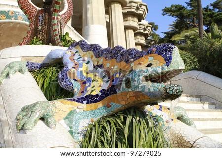 Parc Guell Lizard Fountain